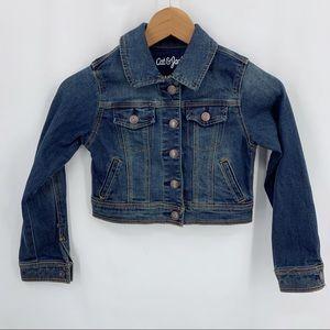 Cat & Jack cropped denim jacket small 6/6x